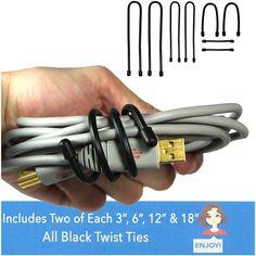 Black Twist Ties
