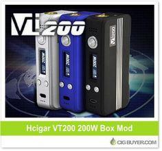 HCigar VT200 (DNA200) Box Mod – $158.99: http://www.cigbuyer.com/hcigar-vt200-dna200-box-mod/ #ecigs #subohm #tempcontrol #hcigar #dna200 #vapelife #vapedeals