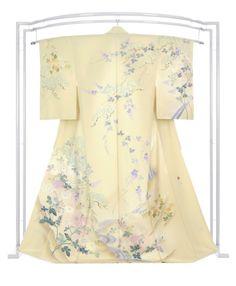 【本加賀友禅訪問着】 古泉良範 伝統的工芸品 「菊に葛松」