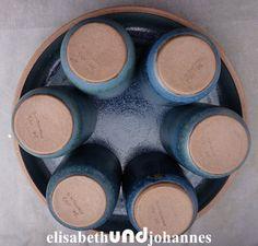 Vintage Schilder - 6 vintage Kaffeebecher & Tablett keramik Se... - ein Designerstück von elisabethUNDjohannes bei DaWanda