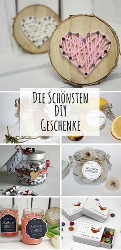 Simply make gifts yourself: the most creative DIY gifts .- Geschenke einfach selbermachen: Die kreativsten DIY Geschenkideen Simply make gifts yourself: The best and most creative DIY gift ideas ♡ – DIYCarinchen - Easy Gifts, Love Gifts, Creative Gifts, Diy Gifts For Men, Simple Gifts, Simple Diy, Diy Holiday Gifts, Valentine Gifts, Christmas Diy