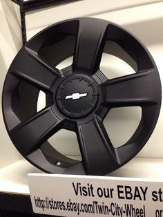 2014 2015 black 20 inch Chevrolet Silverado OE GM replica wheels SS Tahoe LTZ in eBay Motors | eBay