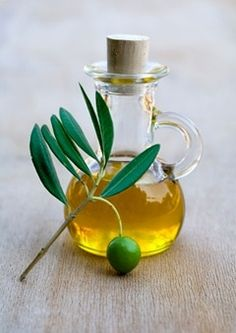 Olive Oil in a Small Glass Jug