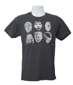 Monster (Men's X-Large) Shirt Creature from the Black Lagoon, Frankenstein Monster, Wolfman, Mummy, Dracula
