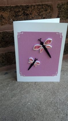 Hey, I found this really awesome Etsy listing at https://www.etsy.com/listing/195613234/quilled-easter-card-pink-dragonflies