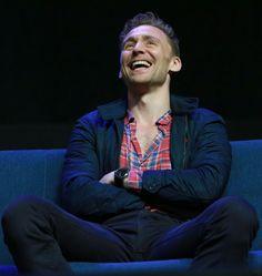 Lola is living la vida Loki — Tom Hiddleston. Laughs like an angel, sits like...