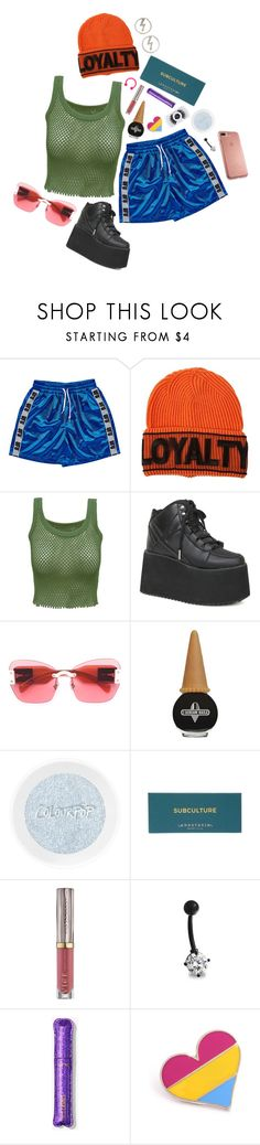 """""""does it make you nervous i'm not afraid to say what i want"""" by giriboy97 ❤ liked on Polyvore featuring Versace, Y.R.U., Miu Miu, Urban Decay, Bling Jewelry and Speck"""
