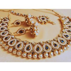designer pearl and stone choker necklace