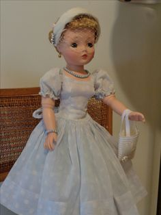 Cissy pony tail Jane in recently bought Madame Alexander light blue sun dress, July 2016 Day Dresses, Flower Girl Dresses, Wedding Dresses, Barbie, Madame Alexander Dolls, Vinyl Dolls, Vintage Dolls, Fashion Dolls, Ponytail