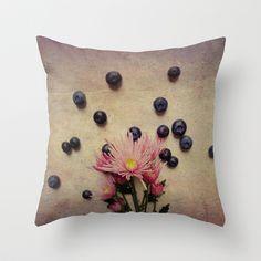 Blooms and Berries Throw Pillow by Olivia Joy StClaire - $20.00 Olivia And Joy, Berries, Bloom, Throw Pillows, Toss Pillows, Cushions, Bury, Decorative Pillows, Decor Pillows