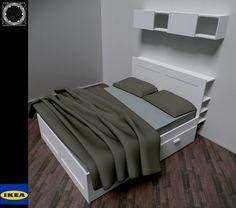 brimnes bed my bedroom pinterest bedrooms. Black Bedroom Furniture Sets. Home Design Ideas