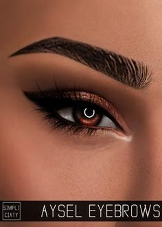 Simpliciaty Aysel eyebrows for The Sims 4 – About Face Makeup Los Sims 4 Mods, Sims 4 Game Mods, Sims Four, Sims 4 Mm, Sims 3 Cc Ropa, Sims 4 Cc Eyes, The Sims 4 Skin, Sims 4 Black Hair, The Sims 4 Cabelos