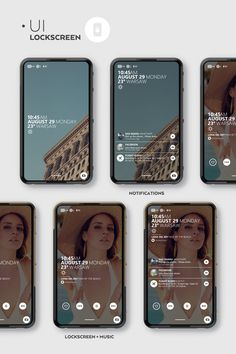 The concept of a smartphone and UI (full UI project is coming soon :)). Features based on technologies that exist, but would have to be improved to be usable in those scenarios, like transparent AMOLED display that can go fully transparent to reveal the f Mobile Web Design, App Ui Design, User Interface Design, Layout Design, Flat Design, Web Layout, Design Web, Graphic Design, Google Glass