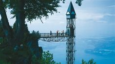 The LIFT;built (1905)& reopened by the Schindler Co.;whisks people 152m UP TO THE SUMMIT of the Hammetschwand in less than 1 minute.It was regarded as a pioneering feat in those days & is still a record holder;since the Hammetschwand lift is holding the #1 position as Europe's highest outdoor lift.To reach the lift, you could travel from Lucerne to Bürgenstock mountain w/the vessel & nostalgic Bürgenstock funicular railway;which was 1st commissioned in 1888. Nobody would want to climb 2283…