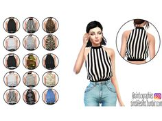 High Neck Top by simtographies at TSR • Sims 4 Updates