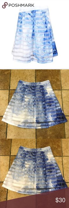 INC sheer Printed Skirt Beautiful lightweight sheer skirt with flower designs all over. Super cute and fun. INC International Concepts Skirts A-Line or Full