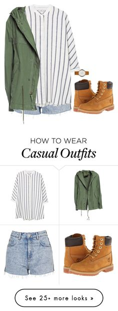 """Casual Outfit"" by mayalexia on Polyvore featuring Topshop, MANGO, Mr & Mrs Italy, Timberland and Marc Jacobs"