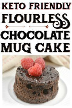 This delicious Keto Flourless Chocolate Mug Cake will cure your sweet tooth without going over on your daily carbs! This delicious Keto Flourless Chocolate Mug Cake will cure your sweet tooth without going over on your daily carbs! Keto Chocolate Mug Cake, Flourless Chocolate Cakes, Chocolate Mug Cakes, Vegan Chocolate, Chocolate Desserts, Flourless Mug Cake, Flourless Desserts, Chocolate Cheesecake, Chocolate Lovers