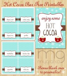 hotcocoapreview 525x600 Freebie Friday: Hot Cocoa Bar Printables