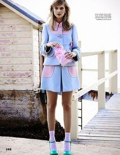 """Boardwalk Empire"" Rosie Tupper by Zachary Handley for ELLE Australia May 2014"