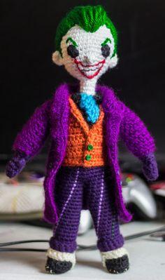 Amigurumi Joker by u/Wulvaine- via Imgur