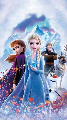 Frozen 2 frozen II Elsa Anna Sven Olaf Disney - Kitchen & Dining: Home & Kitchen Frozen Disney, Film Frozen, Elsa Frozen, Frozen Art, Frozen Cartoon, Frozen 2 Wallpaper, Disney Phone Wallpaper, Laptop Wallpaper, Art Disney