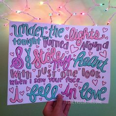 Stole My Heart- One Direction Lyric Art, Lyric Quotes, Song Lyrics, Lyric Drawings, 1d Songs, Catfish & The Bottlemen, State Champs, One Direction Lyrics, Cute Journals