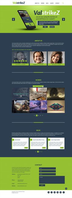 ValstrikeZ - Free Portfolio Web PSD Template