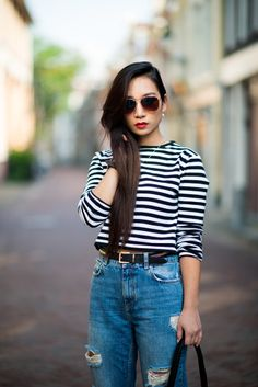 Stitch fix stylust..Striped crop-top and ripped jeans is something i want to try. Just remeber im a teacher so crop can't be too cropped.