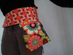 Ceinture pochette en coton imprimée réglable à la taille : Autres sacs par lilobulle