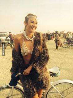 Candice Swanepoel at Burning Man