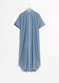 & Other Stories image 2 of Silk Blend Dress in Blue