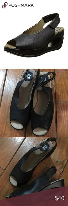 3023561d445ea Fly London peep toe cutout wedge EUC Those pep toe wedges by Fly London are  definitely