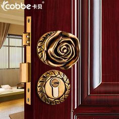Buy Full Brass Wood Door Lock Simple Wooden Door Split Locks Zinc Alloy Indoor  Door Locks Bedroom Hotel Home Office Door Lock $227.70  ICON2