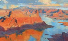 Bill Cramer, Desert Waters, oil, 22 x 36.