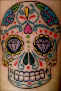 1000 Images About Sugar Skull Tattoos On Pinterest