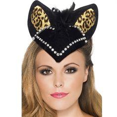 burlesque kitty hat   Elegant hat til nytår   Glamour fest #damemode #nytår #hat #Burlesque