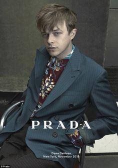 Dane DeHaan for Prada Men's Spring/Summer 2014 Ad Campaign shot by Annie Leibovitz. The top half is fun and gorgeous. Dane Dehaan, Annie Leibovitz, Pretty People, Beautiful People, He's Beautiful, Prada Spring, Prada Men, Steven Meisel, Millie Bobby Brown