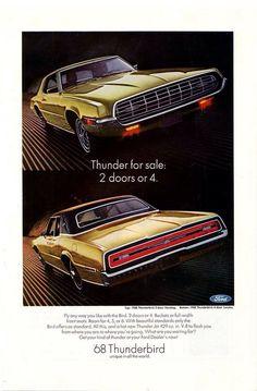 1968 Ford Thunderbird Car Lincoln Mercury Motor Company Antique Cars