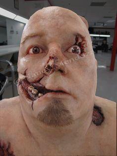 Sfx makeup CSI style silicone head