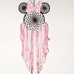 Items similar to Minnie Mobile- Minnie Mouse Dreamcatcher, Disney Themed Mobile, Disney Dreamcatcher, Mouse Dreamcatcher, Handmade Dreamcatcher on Etsy Wire Crafts, Diy And Crafts, Arts And Crafts, Disney Diy, Disney Crafts, Minnie Mouse Nursery, Dream Catcher Art, Native American Crafts, Nativity Crafts