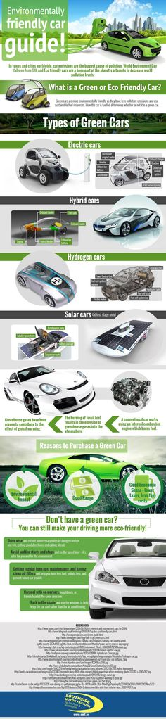 Environmentally Friendly Car Guide! #infographic