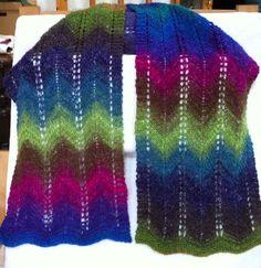 Lacy Zigzag shawl - via @Craftsy
