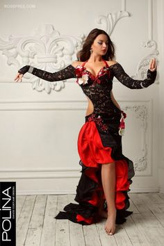 But in different colors, not red or black Belly Dancer Costumes, Belly Dancers, Dance Costumes, Dance Outfits, Dance Dresses, Salsa Dress, Belly Dance Outfit, Red Costume, Dance Poses