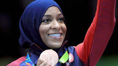 The media falsely reported that Ibtihaj Muhammad, the first U.S. Olympian to compete in a hijab, was held by customs officials for two hours due to President Donald Trump's travel ban.
