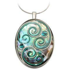 Hibiscus Abalone Pendant by AVA Goldworks ($430) ❤ liked on Polyvore featuring jewelry, pendants, green pendant, abalone jewelry, abalone pendant, swirl pendant and green jewelry
