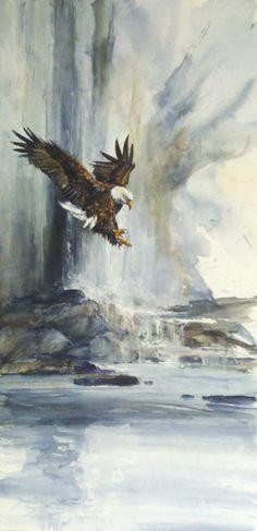 20 x 10 watercolor