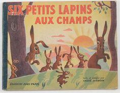 SIX PETITS LAPINS AUX CHAMPS, 1945, ANDRE JOURCIN