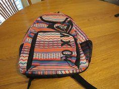 Girls juniors book bag back pack bookbag surf skate Roxy pink black purple NEW in Clothing, Shoes & Accessories, Unisex Clothing, Shoes & Accs, Unisex Accessories | eBay