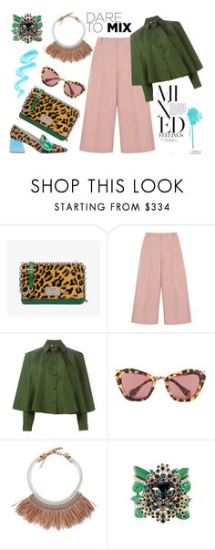 """Animal Prints"" by erindream ❤ liked on Polyvore featuring Prada, RED Valentino, Kenzo, Miu Miu, Fiona Paxton and Roberto Cavalli"